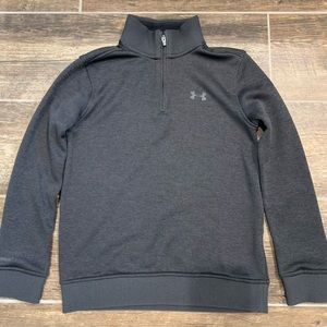 Youth Under Armour Black Quarter Zip Sweater